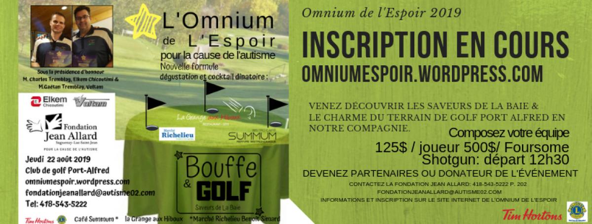 Tournoi de golf Omnium de l'Espoir